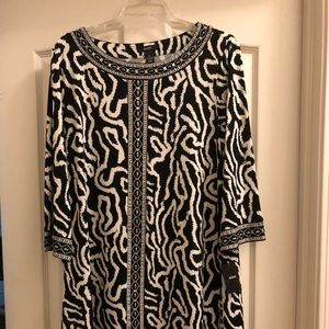 ALFANI  black and white dress new with tags XL
